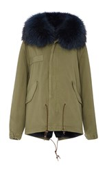 Mr And Mrs Italy Mini Canvas Lapin Murmasky Parka Blue
