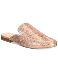Inc International Concepts Anna Sui Loves Gannie Mules Created For Macy's Women's Shoes Rose Gold Embellished