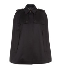 Burberry Cashmere Military Cape Coat Female Navy