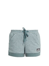 Adidas By Stella Mccartney Essentials Cotton Blend Performance Shorts Light Green
