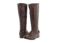 Frye Melissa Button Back Zip Dark Brown Vintage Leather Women's Zip Boots