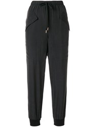 See By Chloe Cropped Jogging Bottoms Black
