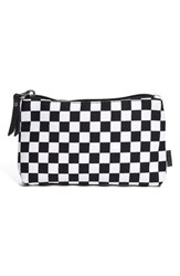Vans 'Homeroomie' Small Canvas Zip Pouch Black Black White