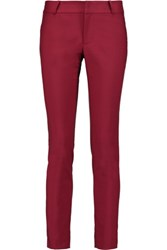 Raoul Stretch Cotton Blend Skinny Pants Claret