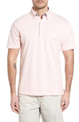 Tailorbyrd Men's Two Tone Pique Polo Light Pink