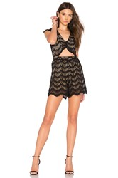 Nightcap Mariposa Cutout Playsuit Black