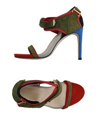 Preen By Thornton Bregazzi Footwear Sandals Women Military Green