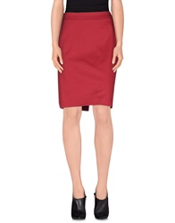 Alviero Martini 1A Classe Knee Length Skirts Maroon
