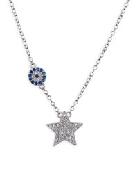 Lord And Taylor Sterling Silver Star Pendant Necklace