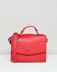 Pieces Bright Structured Cross Body Flame Scarlet