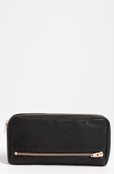 Alexander Wang 'Fumo' Zip Top Leather Pouch Wallet Black
