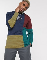 Huf Vilmos Stripe Long Sleeve Knit T Shirt In Multi