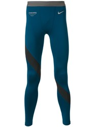 Nike M Dry Gyakusou Running Tights Men Polyester Spandex Elastane M Blue