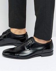 Hugo By Boss Square Derby Toe Cap Shoes Black