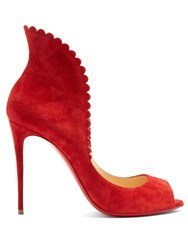 Christian Louboutin Pijonina 100Mm Suede Pumps Red