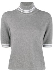 Thom Browne Roll Neck Top Grey
