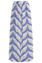 Paul And Joe Maxi Skirt Feather Print