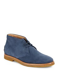 Tod's Leather Chukka Boots Blue