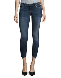 Noisy May Be Be Nice Cropped Jeans Blue