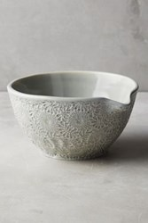 Anthropologie Ceramic Lacework Mixing Bowl Sky