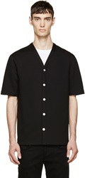 Helmut Lang Black French Terry Baseball Shirt