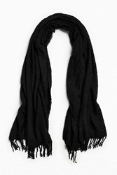 Urban Outfitters Oversized Boucle Scarf Black