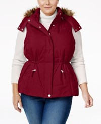 American Rag Trendy Plus Size Faux Fur Trim Puffer Vest Only At Macy's Zinfindel