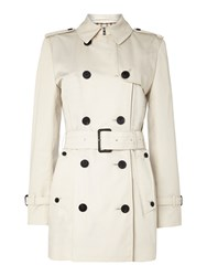 Aquascutum London Jennifer Double Breasted Raincoat Cream
