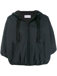 Red Valentino Cropped Windbreaker Jacket Black