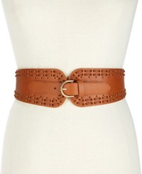 Inc International Concepts I.N.C. Laced Stretch Waist Belt Created For Macy's Cognac