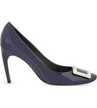 Roger Vivier Belle De Nuit T85 Patent Leather Courts Navy