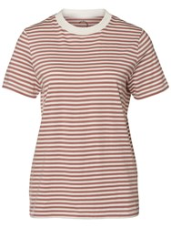 Selected Femme My Perfect Stripe T Shirt Snow White Burlwood