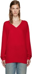 6397 Red Cashmere Sweater