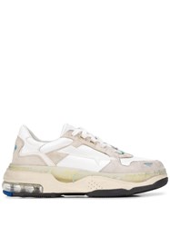 Premiata Draked Panelled Sneakers Neutrals