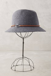 Anthropologie Jordana Buckle Fedora Grey