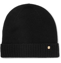 Mulberry Cashmere Beanie Black