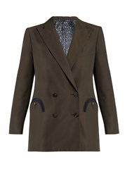 Blaze Milano Many Clouds Cotton Blend Twill Blazer Dark Grey