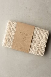 Anthropologie Baudelaire Sisal Wash Cloth Honey One Size