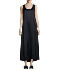 Helmut Lang Long Racerback Tank Dress Navy