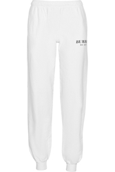 Brian Lichtenberg Burrrr So Icey Cotton Jersey Track Pants White