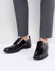 Zign Leather Studded Brogue Shoes Black