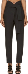 Jay Ahr Black High Waisted Tie Trousers