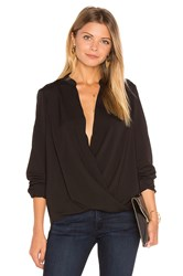 Bcbgeneration Surplice Blouse Black