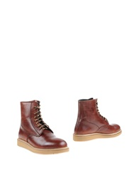Primabase Ankle Boots Maroon