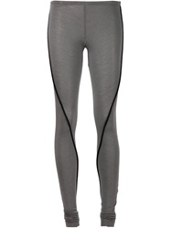 Simona Tagliaferri Piped Leggings Grey