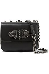 Christian Louboutin Sweet Charity Embellished Leather Shoulder Bag Black