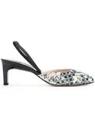 Paul Andrew Rhea Slingback Pumps Women Goat Skin Rubber 35 Black