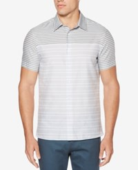 Perry Ellis Men's Engineered Striped Shirt Kentucky Blue