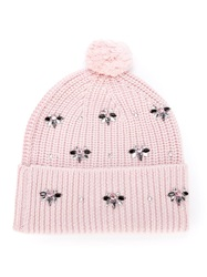 Markus Lupfer Embellished Beanie Pink And Purple