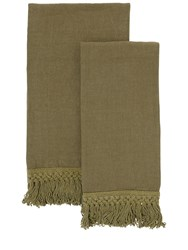 Once Milano Towel Set With Fringe